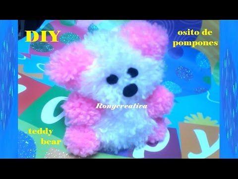 DIY Craft pom pom teddy bear  / Ronycreativa English Channel