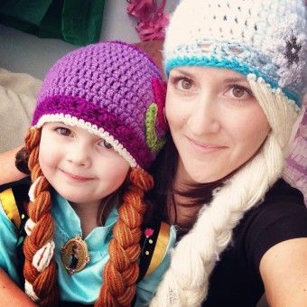 Princess Anna and Elsa Frozen Crochet Hat Set Free Pattern With Braids -  Beanie Hat d4fdac1baf0