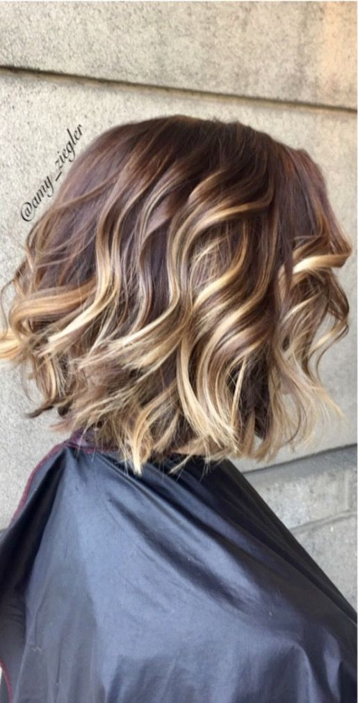 Best 25 highlights short hair ideas on pinterest balayage hair color redken brunette balayage and a textured bob by find this pin and more on short hairstyles pmusecretfo Choice Image