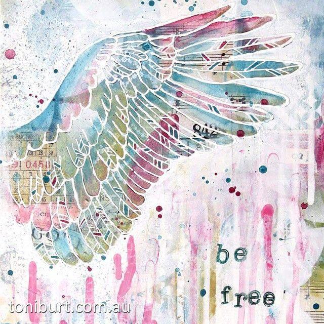 "Detail of ""be free""  #mixedmediaart #mixedmedia #wing #befree"