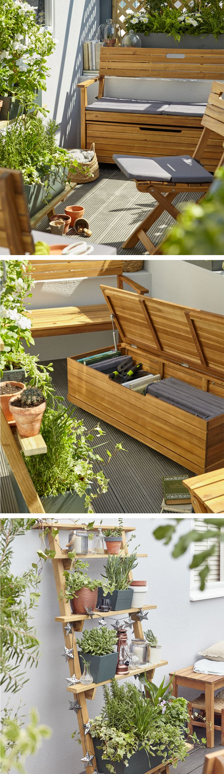 Balcony furniture diy - A Small Garden Or Balcony Can Still Be Ultra Stylish Invest In Seating That Doubles
