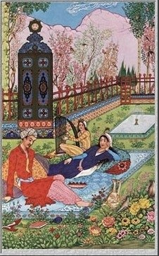 Persian miniature: Is that a TARDIS in the background?