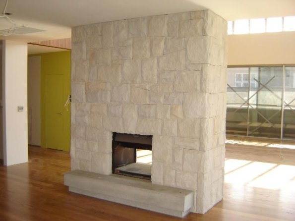 sandstone fireplace surround