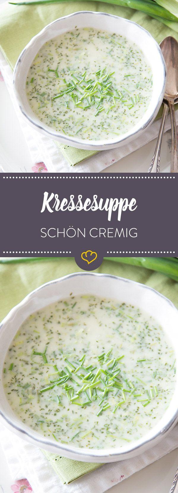 Cremig, würzig, lecker - wer Kresse sonst nur als Gewürz über Eier, Quark und Frischkäse streut, sollte sie schleunigst als Suppe probieren.