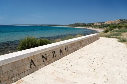 April 25, 1915, was the day the ANZACs landed on the Gallipoli Peninsula, now known as ANZAC Cove (see photo above) to battle the Turkish army during WWI.