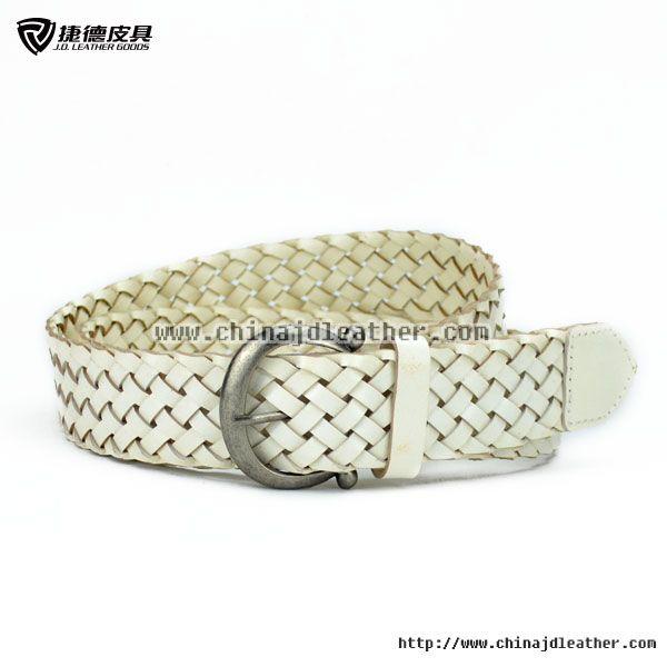 Women White Braided Belt-JDLA14004