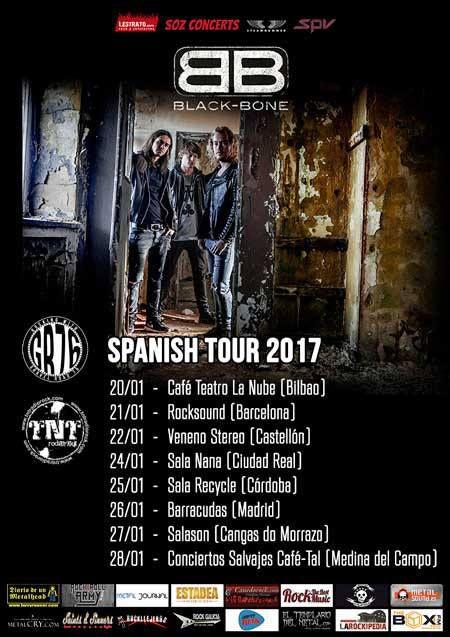 La gira de los holandeses Black Bone comienza hoy en Bilbao y estarán en Barcelona, Madrid, Córdoba, Ciudad Real...
