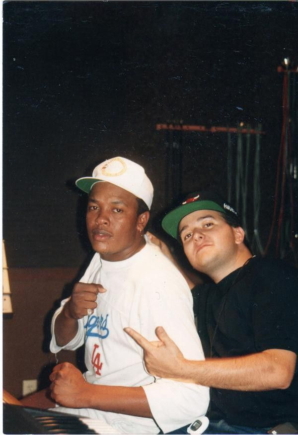 "Dr. Dre and Damon ""Krazy D"" Trujillo - The only Mexican from NWA & the Posse. Credited in writing ""The Panic Zone"""