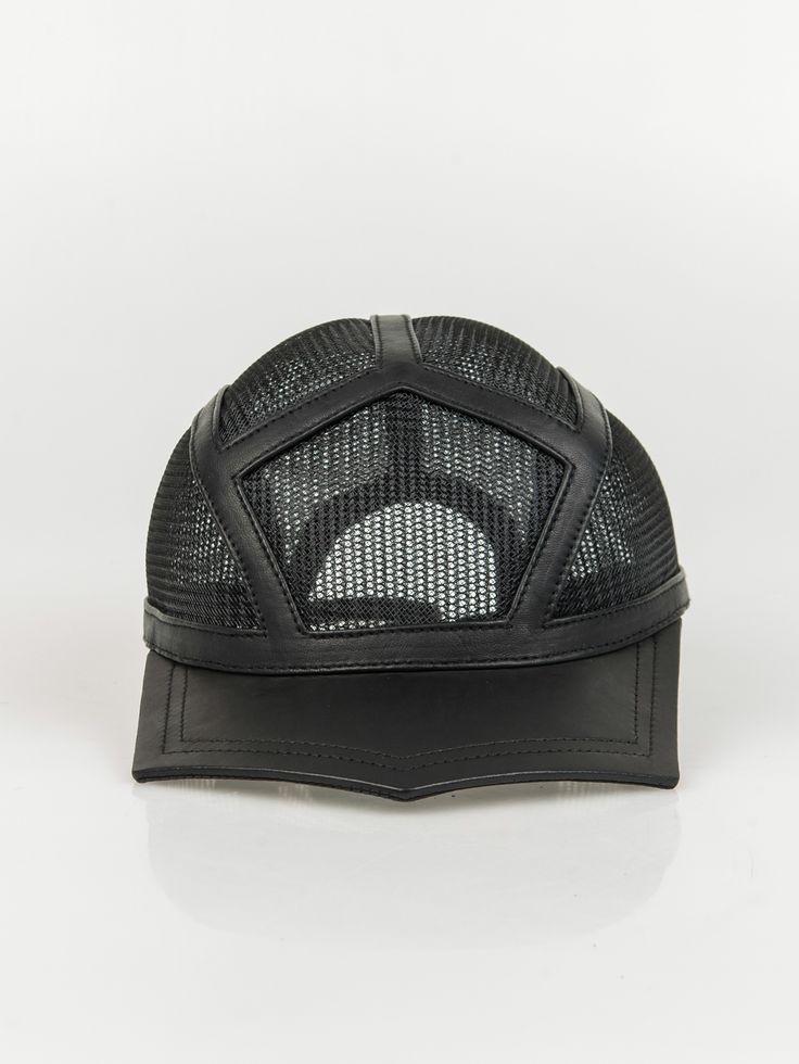 HOUSE OF MALAKAI , Phantom Leather Hat Detailed with Crenoline  #shopigo#shopigono17#ss15#houseofmalakai#headwear#rihanna#beyonce#accessory