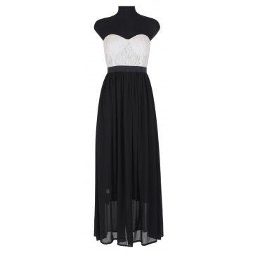 rochie alba negru