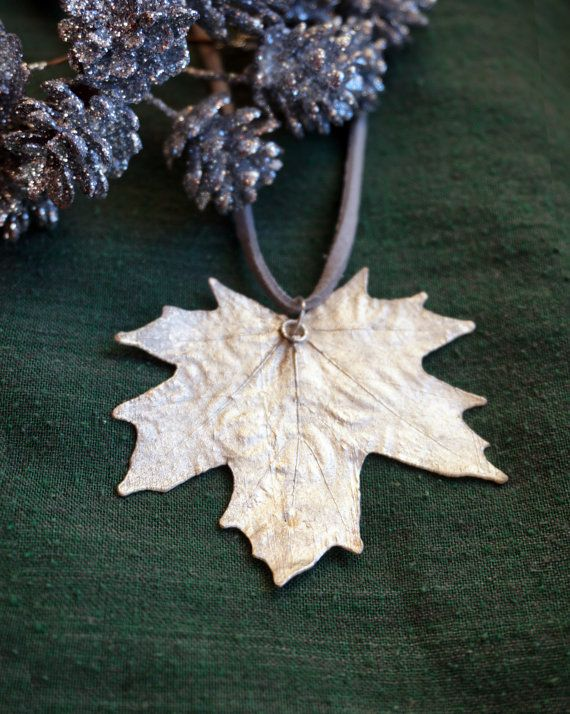 Silver Maple leaf pendant. Electroplating. Sold out.