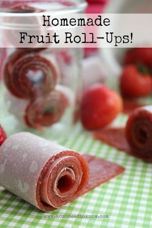 Homemade Fruit Roll Ups Recipe