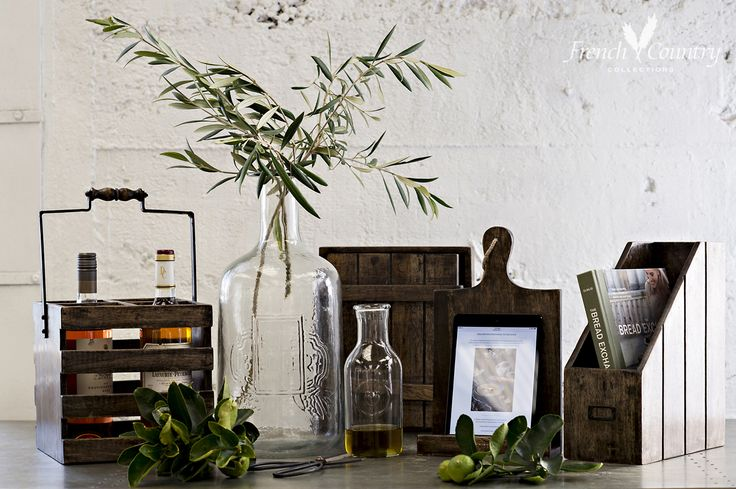 Hand-blown glassware and provincial French inspired kitchen essentials