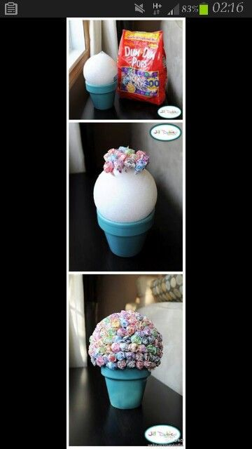 lolly pop tree in mini's these would make greeaaat!! prizes for games!