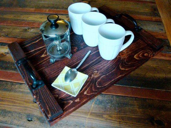 Recycled Pallet Serving Tray.