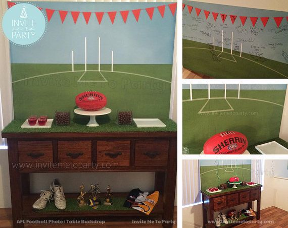 Football Printable Backdrop Printable Photo by InviteMe2Party