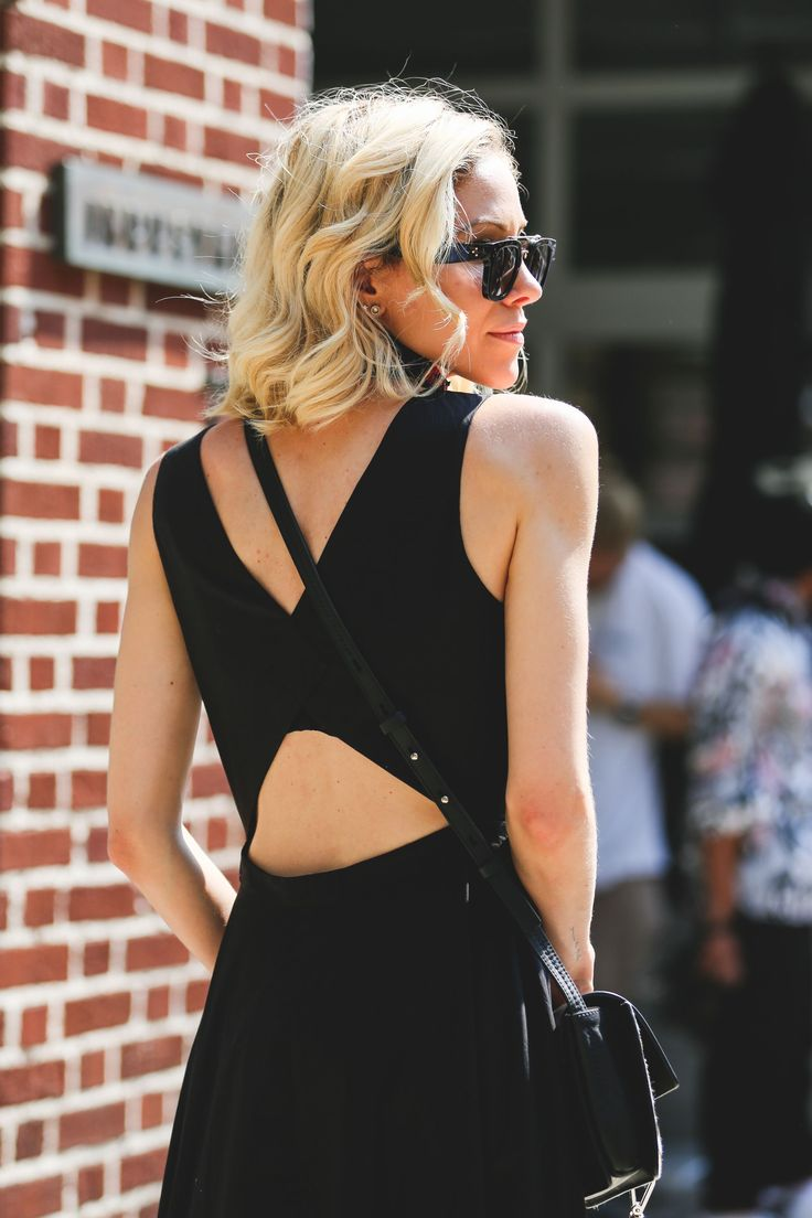 Bras, Bye: It's All About The Exposed Back Right Now #refinery29  http://www.refinery29.com/exposed-backs-fashion-trend#slide-6  This cutout shows off the small of your back, but also lets you sneak in a bra....