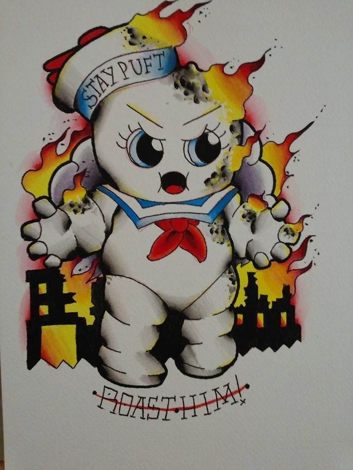 Ghostbusters tattoo design by Chris Akins @ Area 51 Tattoo