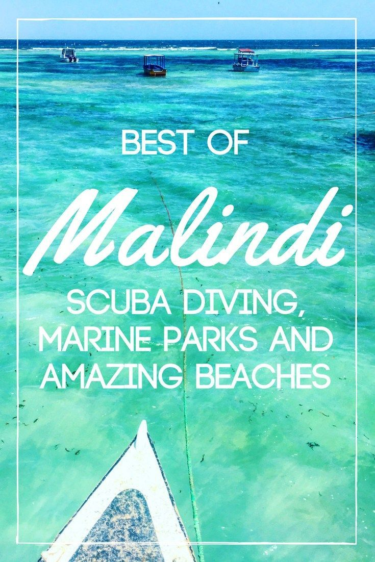 When you think of Kenya you think of safaris in the savannah, you don't think of white sandy beaches and crystal clear water. And yet this is what I found in Malindi, plus some beautiful marine parks with coral reefs to go scuba diving. Check out this post to find out more!