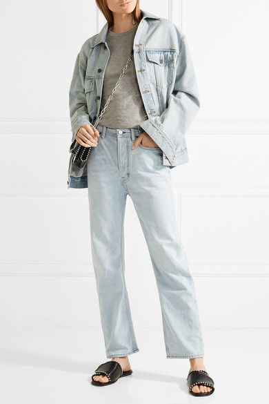Acne Studios - Log High-rise Straight-leg Jeans - Light denim