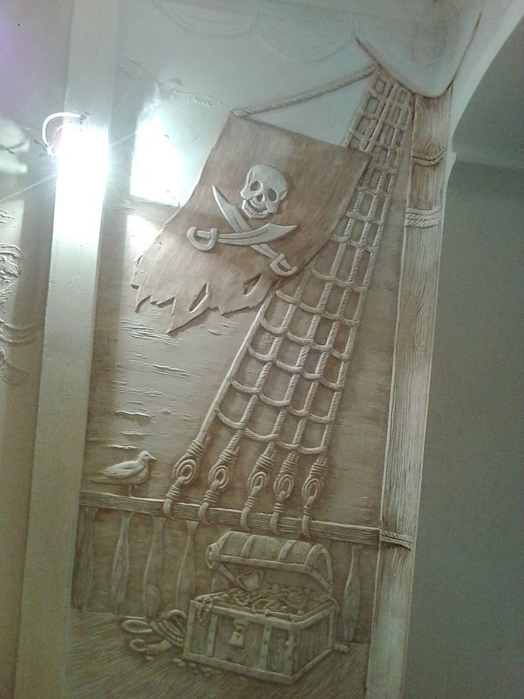 пиратская тема - Скульптура и лепка - Лепные панно и барельефы