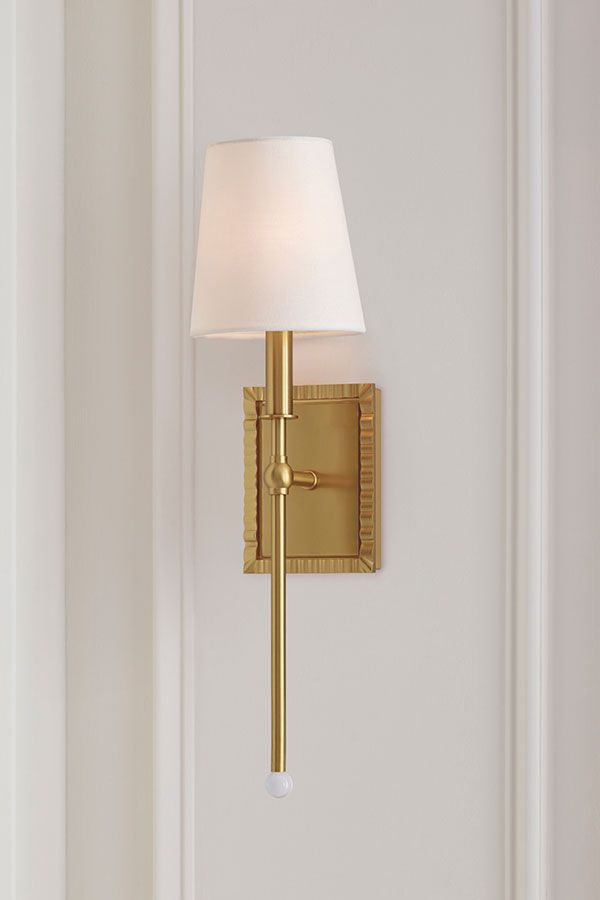 Ah By Alexa Hampton Baxley Burnished Brass Six Inch One Light Bath Sconce Aw1051bbs Bellacor In 2020 Sconces Ceiling Mounted Lights Brass Wall Sconce