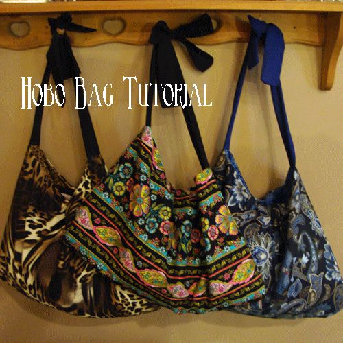 Hobo Bags-tutorial - Chocolate Chocolate and More! I tried it and could do it. Great tutorial.