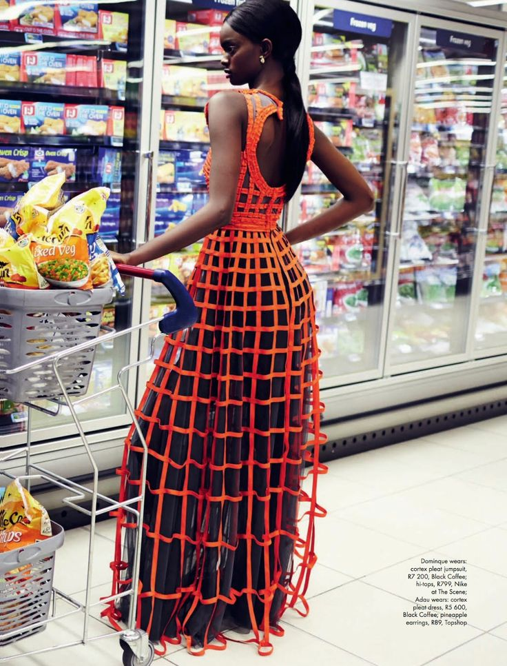 FAB Editorial: Dominique And Adau Mornyang By Damon Fourie For Elle South Africa July 2014 Fashion Shoot, Editorial Fashion, Fashion Outfits, Fashion Tips, Fashion Ideas, Fashion Hacks, Haute Couture Style, African American Fashion, Podium
