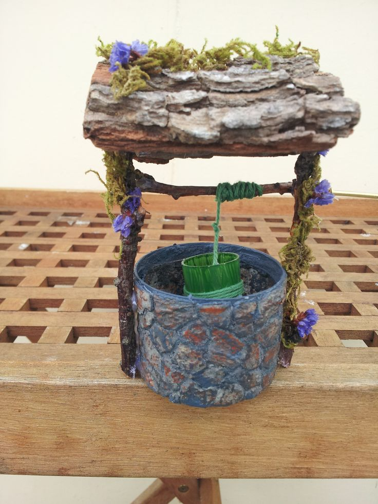 Here is the Wishing well I made, very pleased with it.