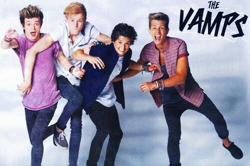 4th of October morning- jade put a status about the vamps i got to the bus stop that morning and asked her who the vamps are? she showed me there song (can we dance). i had heard the song before but never heard of the vamps before. so then i got to my dads after school and my step mum told me that the vamps will be in the concert in november 30th live radio. so i had known them a day ;)  then i decided to go on youtube to watch all there videos. i am already a fan of the vamp they are…