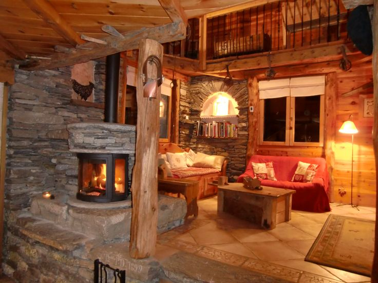 D coration d 39 interieur rustiques des chalets de montagne chalet pinterest search chalets for Interieur chalet montagne photo