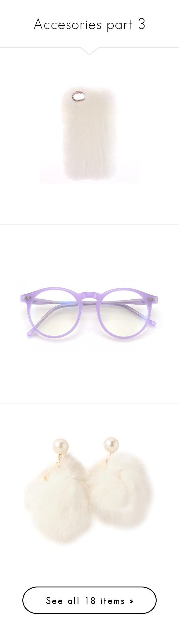 """""""Accesories part 3"""" by bubblegumbae ❤ liked on Polyvore featuring accessories, tech accessories, eyewear, eyeglasses, glasses, sunglasses, fillers, lavender, circle eyeglasses and circular glasses"""