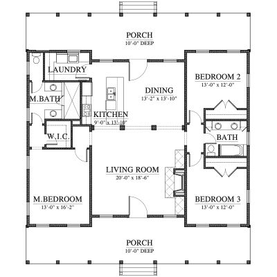 2241 best images about house plans on pinterest for Small cracker house plans