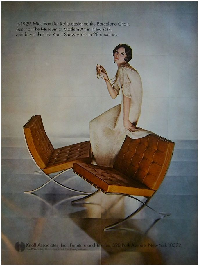 Vintage Knoll Associates Advert. ForefrontBarcelona ChairMid ...