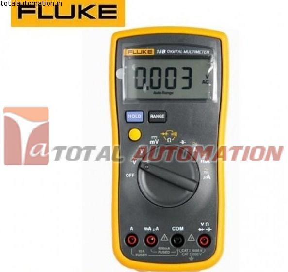 Fluke 15B Digital Multimeter - Total Automation Fluke offers features most often needed for troubleshooting most of day to day electrical and electronics problems. The 15B DMM is specially designed for Indian technicians keeping in mind their requirements for quick and easy troubleshooting.