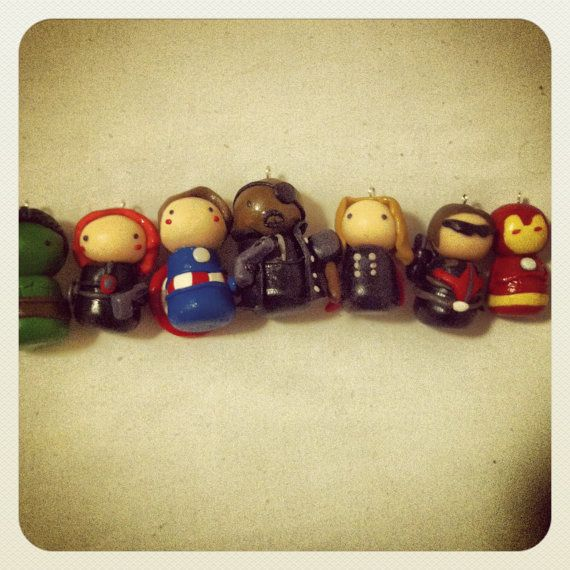 Avengers Charm, polymer clay charms