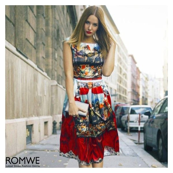 ROMWE Baroque Red Sleeveless Maxi Dress ❤ liked on Polyvore featuring dresses, baroque print dress, red maxi dress, no sleeve dress, sleeveless dress and red dress