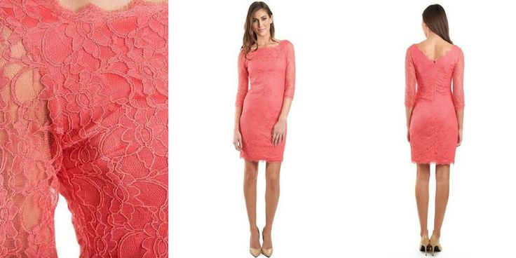 The 'classic' look - Joseph Ribkoff Coral Lace Dress
