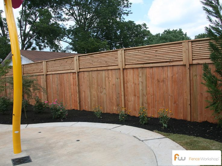 Cool Fence Ideas For Backyard fence The Stanton Louvered Top Wood Privacy Fence