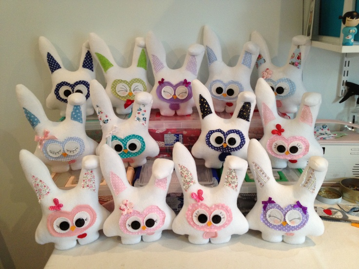 Another little tribe of Easter Hootie Buns :❤ready to hop of to new homes ❤