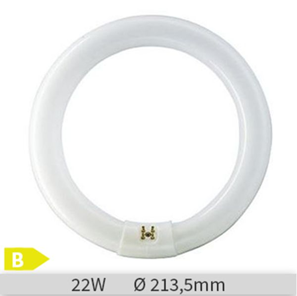 Tub fluorescent circular Philips MASTER TL-E Circular 22W, G10q, tub C-T9, 9000 ore, lumina neutra http://www.etbm.ro/tuburi-fluorescente-circulare