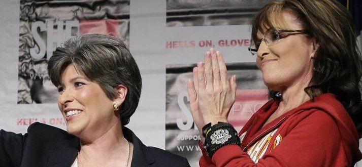 The Support of Sarah Palin and the Koch Brothers Backfires and Brings Down Joni Ernst