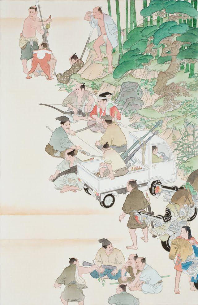 Native troops by Akira Yamaguchi