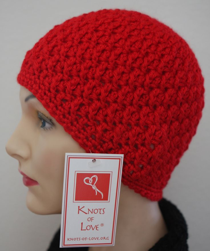 Knots Of Love Hand Crochet Knitted Caps For Chemo Patients And