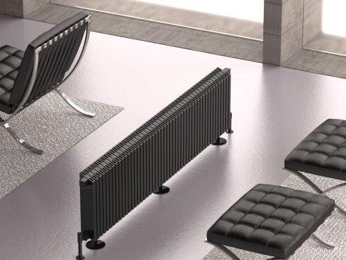 Termoarredo modulare in alluminio a pavimento OBLIQUO | Termoarredo a pavimento - K8 Radiatori