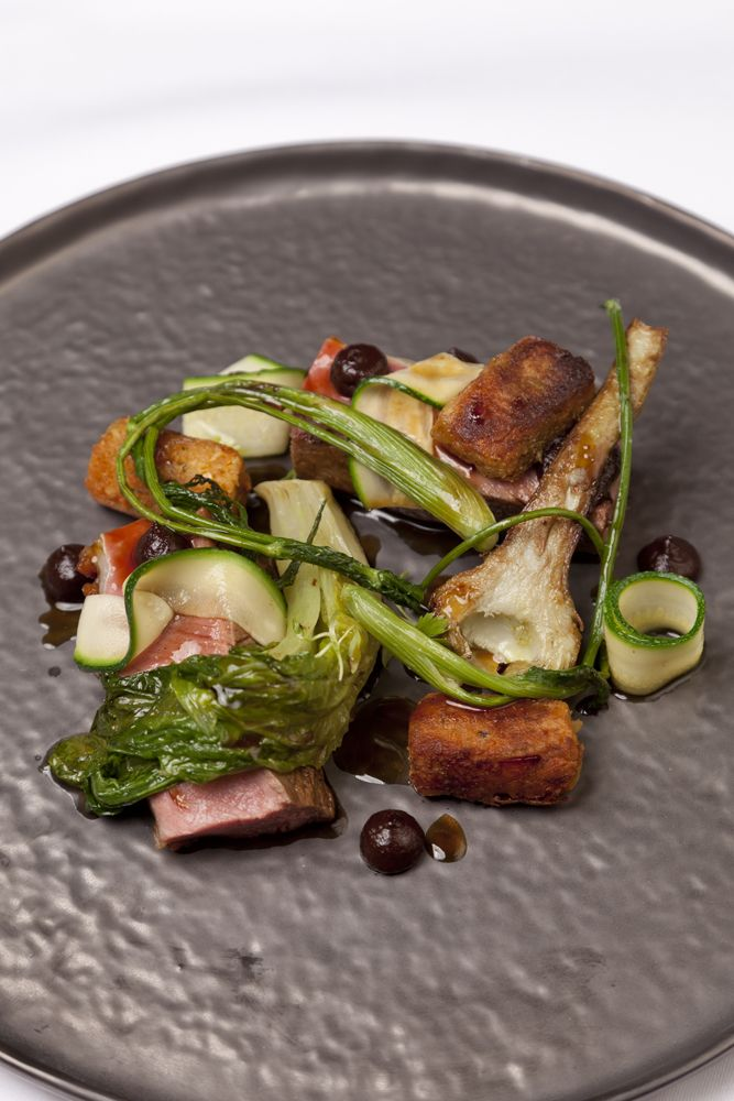 Welsh Lamb is partnered with flavours of Provence in this lamb with black olive recipe from Richard Davies.