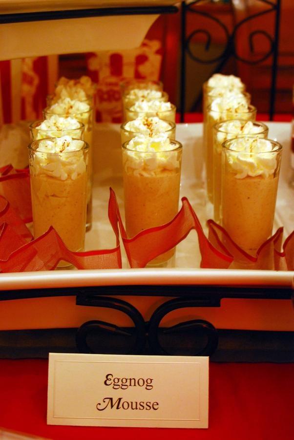 Dinner Party Desserts Ideas Part - 36: Progressive Dinner Party...Dessert Eggnog Mousse Shooters
