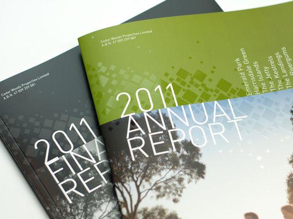 Annual Report :: Cedar Woods by Axiom Design Partners , via Behance