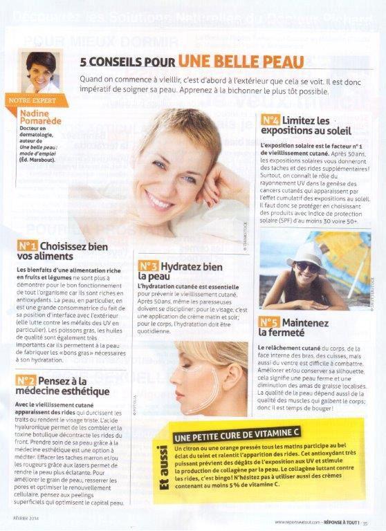 Avoir une belle peau : les 10 conseils dun dermatologue
