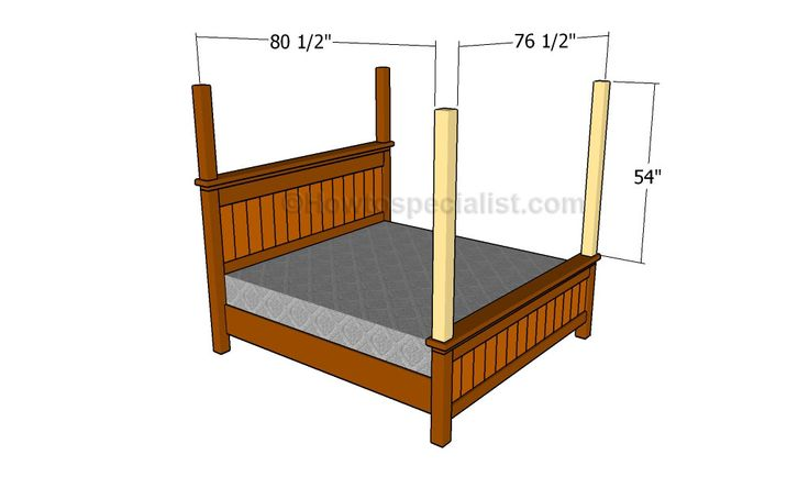 turn a bed frame with headboard and footboard into a canopy bed frame | How to make a bed canopy | HowToSpecialist - How to Build, Step by ...